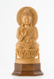 Carved Wooden Buddha Royalty Free Stock Image