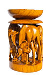 Carved Wooden Candle Holder royalty free stock photo