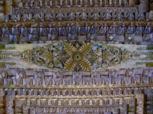Carved wooden ceiling detail royalty free stock image