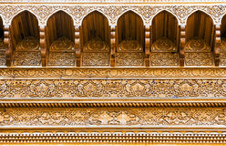 Carved wooden ceiling of a summerhouse Stock Photography
