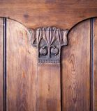 Carved wooden detail, old furniture Royalty Free Stock Image