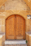 Carved wooden door Royalty Free Stock Images