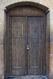 Carved wooden door in a church, Armenia Royalty Free Stock Photo