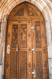 Carved wooden door Royalty Free Stock Photo
