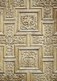 Carved wooden doors Stock Photo