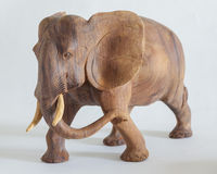 Carved wooden elephant Royalty Free Stock Images