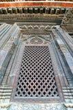 Carved wooden entrance to a Hindu temple. Kathmandu, Nepal Royalty Free Stock Photos