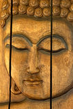Carved Wooden Face Panel Royalty Free Stock Photo