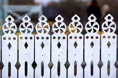 Carved wooden fence Royalty Free Stock Photos