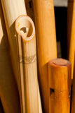 Carved wooden flutes Stock Image