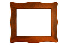 Carved Wooden Frame. Carved wooden picture frame with space for picture or text inside the frame stock photos