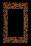 Carved wooden frame royalty free stock photography
