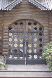 Carved wooden gate Stock Images