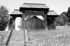 Carved wooden gate (Maramures, Romania) Royalty Free Stock Image