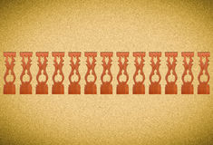 Carved wooden lattice work with Thai style pattern art in Thailand. Royalty Free Stock Images