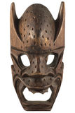 Carved Wooden Mask. Hand made beautifully carved wooden mask. Fantastic display of woodcrafting Royalty Free Stock Photography