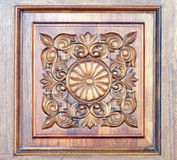 Carved wooden ornament Stock Photography