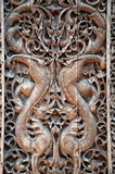 Carved wooden panels Royalty Free Stock Photo