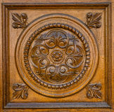 Carved wooden pattern Stock Images