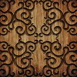 Carved wooden pattern Stock Image