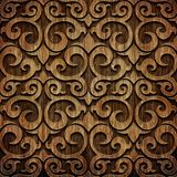 Carved wooden pattern Royalty Free Stock Images