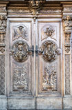 Carved wooden portal Royalty Free Stock Photos