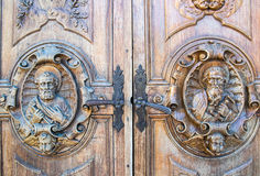 Carved wooden portal Royalty Free Stock Photo