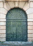 Carved wooden portal Stock Photography