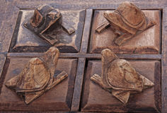 Carved Wooden Turtles on Trinket Box Compartment Lids Stock Image
