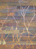 Carved wooden wall Royalty Free Stock Image
