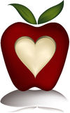 Carver apple mesh. Illustration of an apple with a heart carved in it. This is a gradient mesh illustration Stock Images