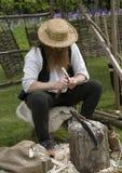 Carver de madeira imagem de stock royalty free