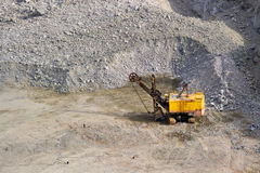 Carver machine, excavator, stonecutter Stock Images