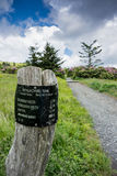 Carvers Gap Sign Post Royalty Free Stock Photography