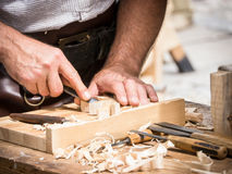 Carving. Wood at a festival in mittenwald - germany stock photos