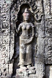 Carving in Angkor Wat Stock Photography