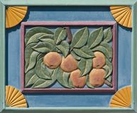 Carving of Apples royalty free stock photos