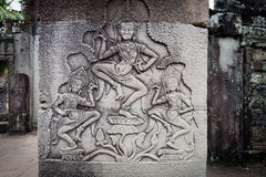 Carving of apsara dancers Angkor Wat Stock Images