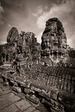 Carving of Bayon Temple at Angkor in Cambodia Royalty Free Stock Images
