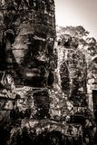 Carving of Bayon Temple at Angkor in Cambodia Stock Images