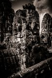 Carving of Bayon Temple at Angkor in Cambodia Royalty Free Stock Photo