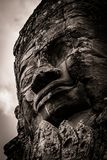 Carving of Bayon Temple at Angkor in Cambodia Stock Photo