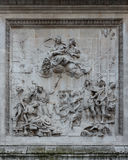 Carving by Caius Gabriel Cibber London Monument Stock Photos
