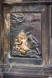 Carving on the Charles bridge in Prague, Czech Republic Stock Photo