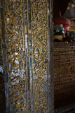 Carving and decoration of the Shwe Yan Pyay monastery Royalty Free Stock Photos