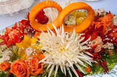 Carving or decoration of vegetables Royalty Free Stock Photography