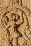 Carving detail of building exterior in Hampi, India. Stock Photo