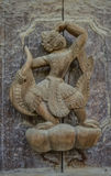 Carving detail on the facade of the Shwenandaw KYAUNG temple Royalty Free Stock Images