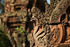 Carving details at Banteay Srei Angkor temple Stock Images
