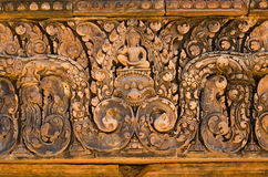 Carving details at Banteay Srei temple, Siem Reap Stock Image